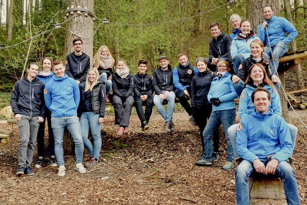 Das komplette Team des Waldseilgarten Wallenhausen