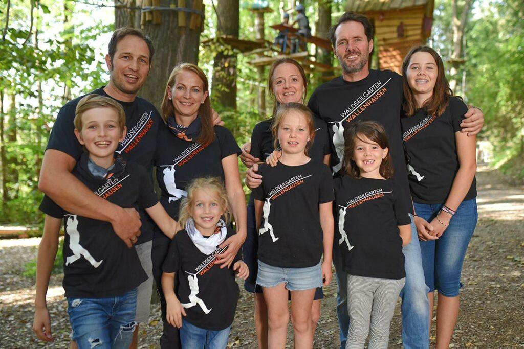 Die Inhaber Familien des Waldseilgarten Wallenhausen