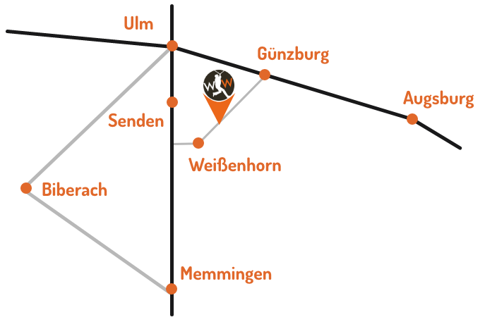 Standort Skizze des Waldseilgarten Wallenhausen