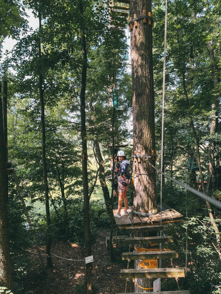Familie Krämer von Travelisto zu Besuch bei uns im Waldseilgarten